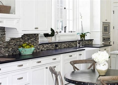 Backsplash For Black And White Kitchen Echanting White Kitchen Backsplash Ideas Meridanmanor