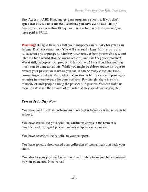Closing Letter Sles How To Write Your Own Seller Letter