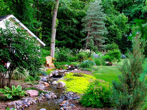 backyard stream gorgeous landscapes landscaping ideas and hardscape