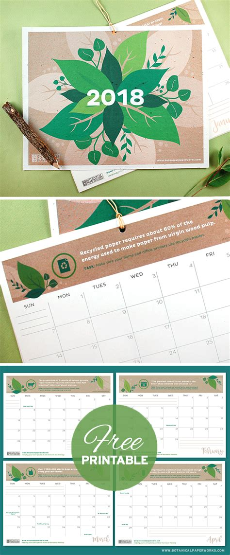 printable calendar 2018 fun free printables four stylish 2018 calendars blog