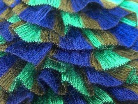 scarf pattern novelty yarn ice ruffle scarf yarn samba khaki green and purple