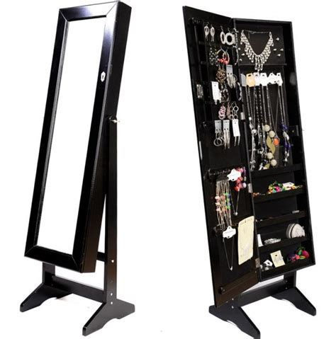 stand up mirror jewelry armoire mirrored jewelry cabinet armoire stand home design ideas
