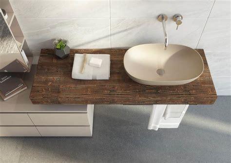 mensola per lavabo appoggio mensola top lavabo legno massello di abete mobile bagno