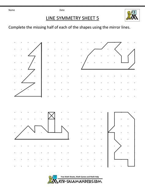 symmetry worksheet line symmetry 5 gif 1000 215 1294