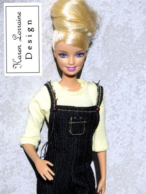 11 1 2 fashion doll patterns dungarees doll clothes pattern 11 1 2 inch fashion dolls