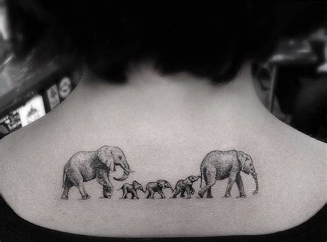 panda elephant tattoo geometric tattoos by dr woo who s been experimenting with