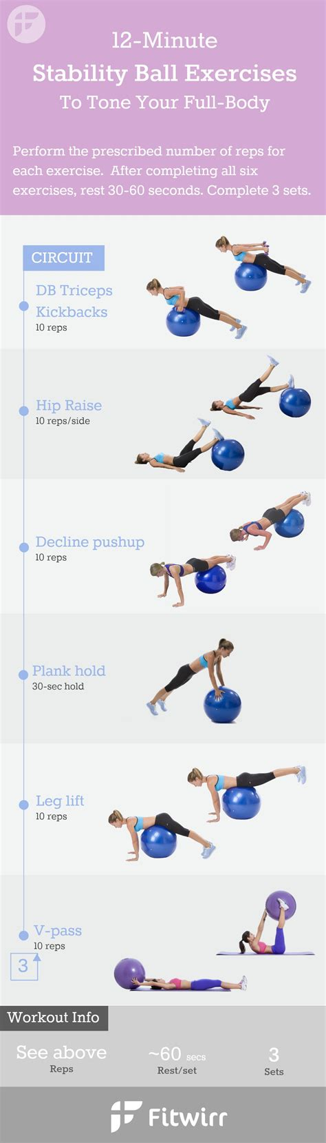 printable exercise ball routines stability ball exercises 12 min at home workout