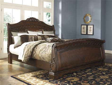 sleigh bedroom furniture sets north shore sleigh bedroom set from ashley b553 coleman furniture