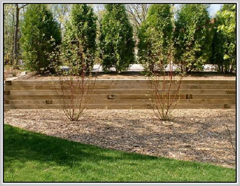 Landscape Timber Wall Design Flagstone Retaining Wall Home Design Ideas