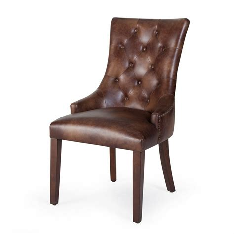 leather dining room chairs dining chair set 2 nailhead bonded leather modern tufted