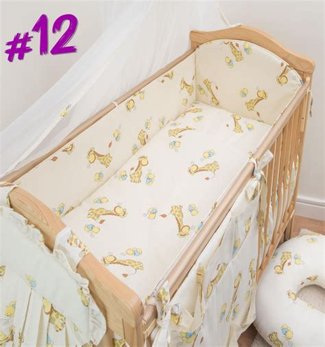 nursery cot bed sets 3 nursery cot baby bedding set with all padded cot bed bumper ebay