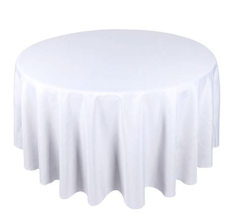 table with white tablecloth white tablecloth polyester 120 quot 300cm