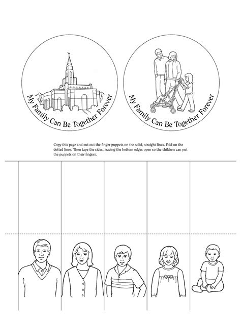 lds coloring pages families can be together forever nursery manual page 59 my family can be together forever
