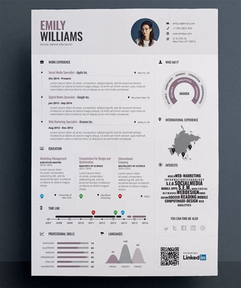 infographic resume template infographic resume template for marketing infographic