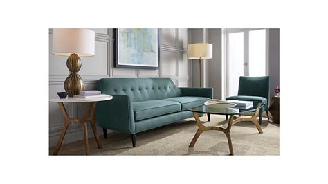 crate and barrel sofa quality elke rectangular glass coffee table with brass base on