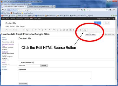 google site forms tutorial create a contact form for your google site