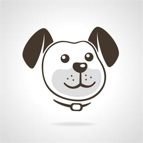 dog icon   vector art stock graphics images