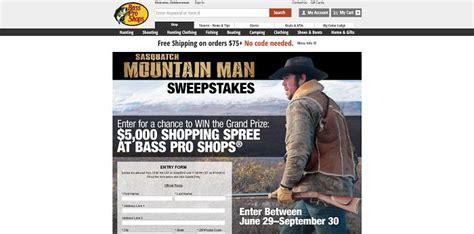 bass pro shops sasquatch mountain man sweepstakes basspro com mountainmansweeps - Sasquatch Mountain Man Sweepstakes