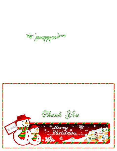 printable christmas thank you card templates free printable thank you cards