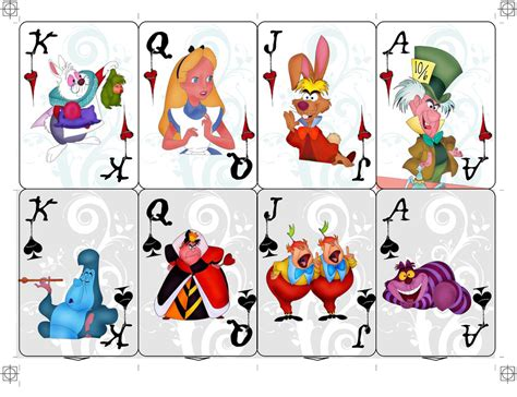 alice in wonderland playing cards the face cards to a
