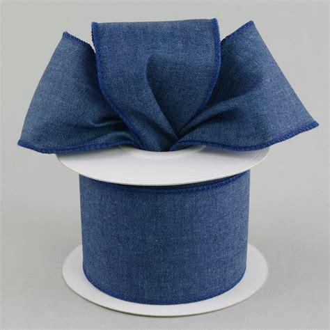 Denim Ribbon 2 5 quot denim ribbon blue 10 yards rg181103