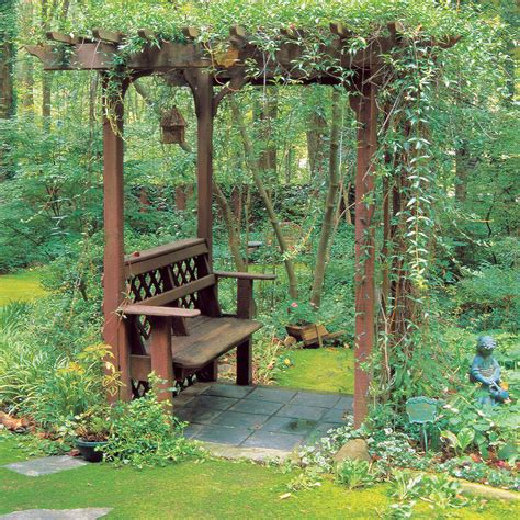 garden bench with arbor how to build a bench with an arbor sunset