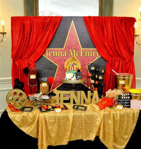 movie themed decorations home hollywood theme party and the items to get for it home