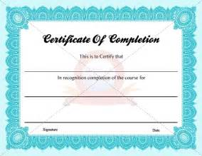 free completion certificate templates certificate of completion certifiate of completion