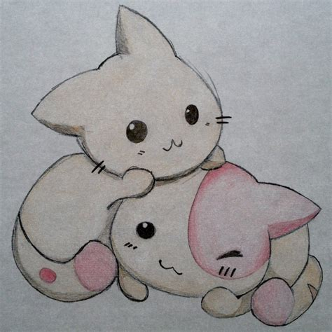 cute cat drawings cute simple drawings tumblr kittens by fullstarmoon cat