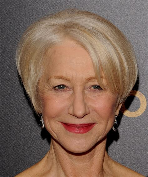 helen mirren cuts hair elegant hairstyles helen mirren hairstyle formal short straight short