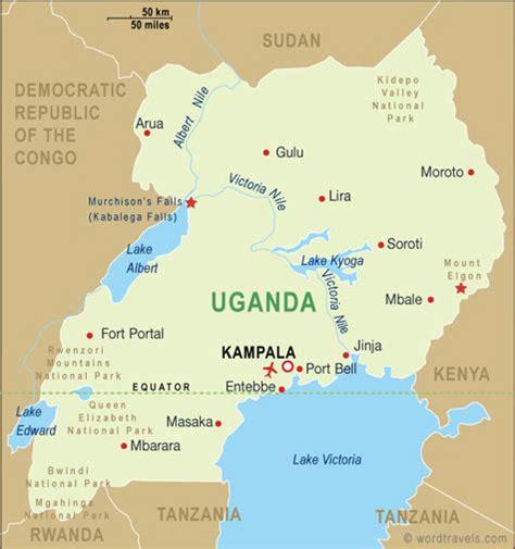 map of uganda uganda benedicte in uganda