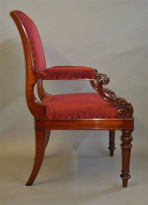 Chair Proportions by George Iv Mahogany Library Chair Of Bold Proportions For