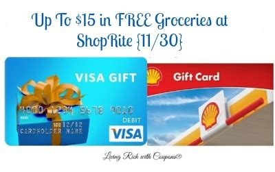 Shoprite Gift Card Deal - shoprite gift card deal up to 15 in free groceries 11 30 living rich with coupons 174
