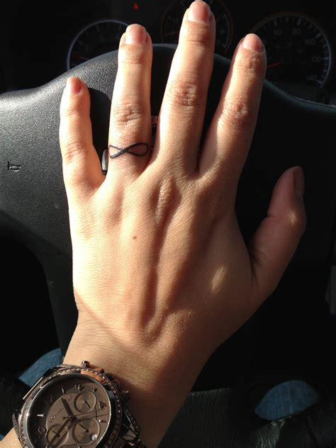 infinity tattoo on finger cost infinity ring finger tattoo tattoos pinterest