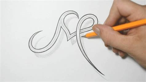letter design tattoo letter m and combined design ideas for