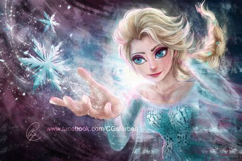 Elsa Painting By Ruby On Deviantart