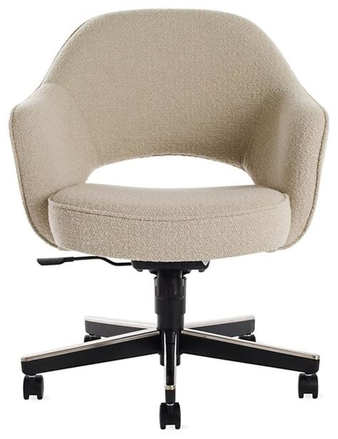 armchair with wheels saarinen executive armchair with casters modern office
