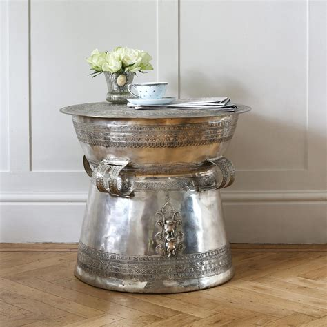 silver coffee table silver drum coffee table coffee table design ideas