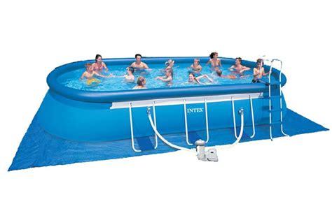 colchon cing decathlon piscina intex oval tubular oval frame 610 x 366 x 122 cm