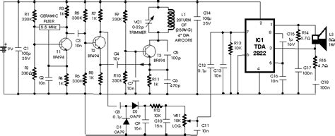 metal detector circuit diagram metal detector schematic circuit diagram audio lifier