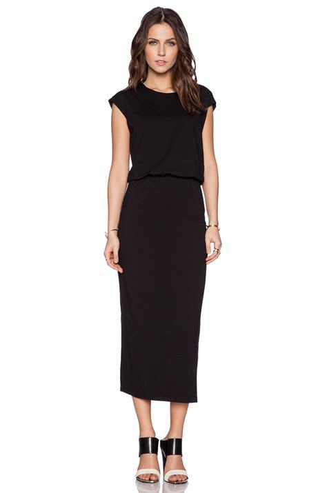 black knit dresses blaque label knit bloused dress in black lyst