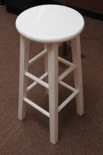 White Wood Bar Stool Barstool White Wooden A1