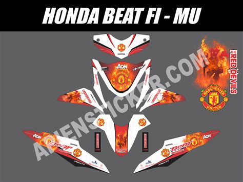 Sticker Striping Beat Fi Race 108 modif honda beat fi orange modifikasi motor beat terbaru