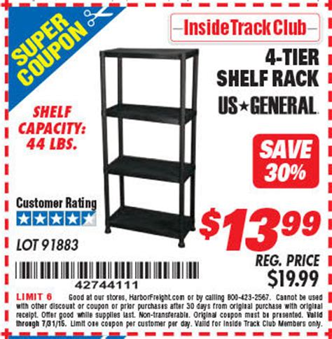 Shelf Discount Code by Harbor Freight Coupon Database It Up Grill