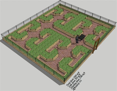 Keyholes Raised Beds And Maximising Gardening Space 3 Raised Garden Layout