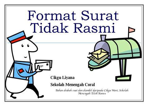 format surat tidak rasmi