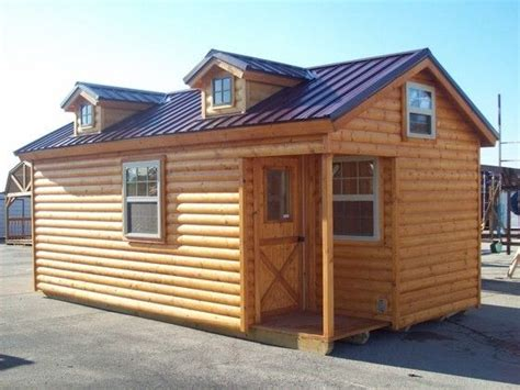 Log Cabins Delivered by Amish Built Log Sided Cabin Pre Built Delivered 12 X20