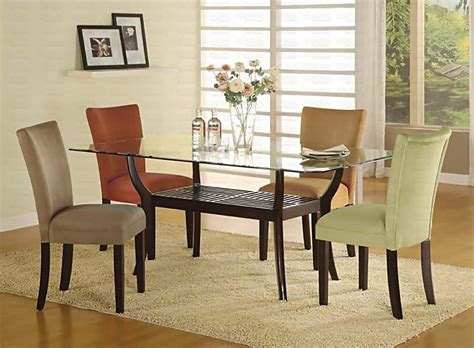 glass top dining room tables rectangular casual dining room sets rectangular glass dining room