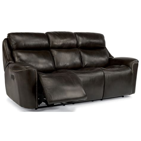 power reclining sofa with adjustable headrest flexsteel latitudes mystic 1471 62ph power reclining sofa