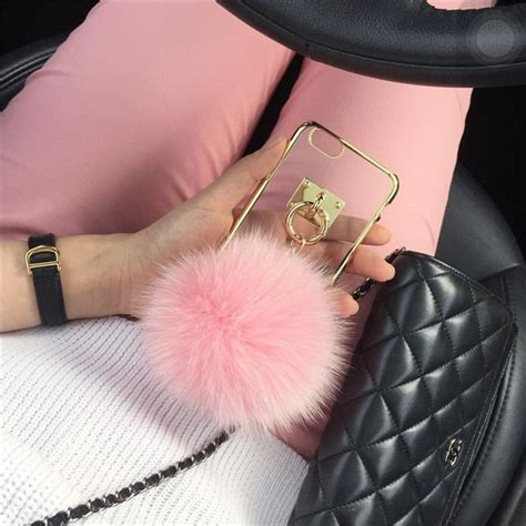 Op4536 For Iphone 6 6s Fashion Pom Pom Velvet Beludru Kode Bi 1 pom pom fur chain for iphone 6 6s 6plus 6s 5 5 inch iphone 6 cases and accessories